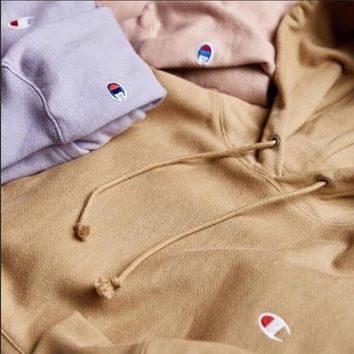 Champion Classic C embroidered hooded hoodie Sweater-1