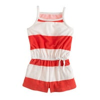 Girls' terry romper in stripe - patterns - Girl's shorts - J.Crew