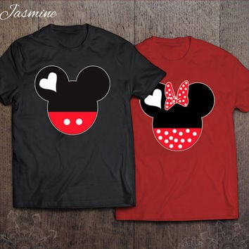 Mickey and Minnie - best couples shirts - unisex t-shirt - gift for her and for him - couples apparels