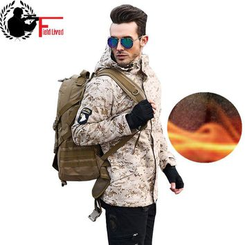 Men Army Tactical Jacket Winter Windbreaker Military Style Male Camo Airborne Thick Thermal Fleece Camouflage Warm Hooded Coat
