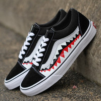 Trendsetter VANS x BAPE Print Old Skool Flats Sneakers Sport Shoes