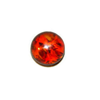 6mm Baltic Amber Gemstone Cabochon