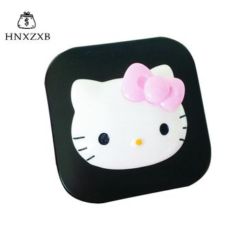 HNXZXB  Women Contact Lenses Storage Box Cartoon KT Cat Contact lens Box Eyes Care Kit Holder Travel Washer Cleaner Container