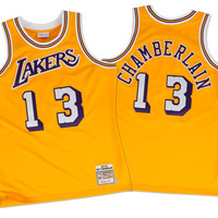 Mitchell & Ness Wilt Chamberlain 1971-72 Authentic Jersey Los Angeles Lakers In Yellow