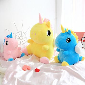 Direct deal Sitting cartoon Unicorn unicorn plush toy Rainbow pony Dash doll Kawaii toy For Children Gift For Girl
