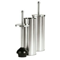 "Satin Finish Stainless Steel Toilet plunger (5 3/4""x 14 1/2"")"