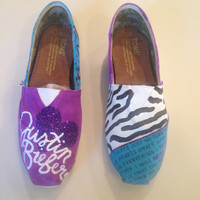 Purple Justin Bieber TOMS 40% OFF