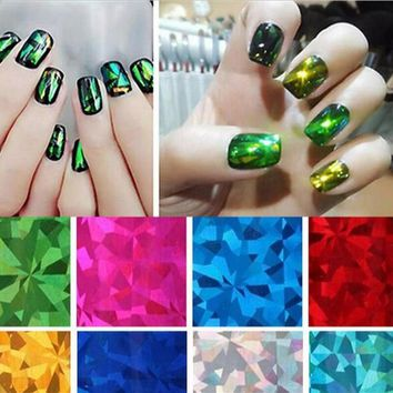 2017 Colorful  Transfer Foil Nail Art Star Design Sticker Decal For Polish Care DIY 30CM