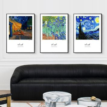 Vincent Van Gogh Wall Pictures For Living Room Posters And Prints Modern Home Decor HD Wall Art Canvas Painting Nordic Style Sky
