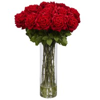 Giant Rose Silk Flower Arrangement