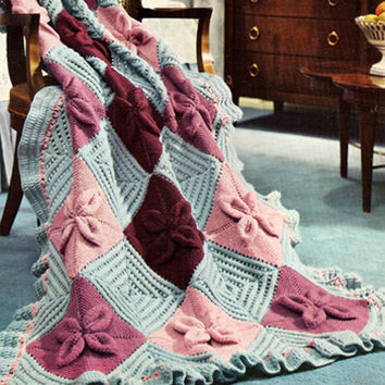 Knitted Nantucket Afghan Pattern