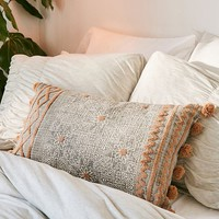 Geo Tufted Bolster Pillow | Urban Outfitters