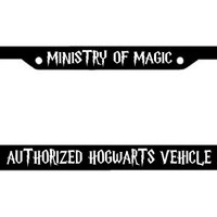 Harry Potter Plate Frame - Ministry of Magic Authorized Hogwarts Vehicle - Harry Potter License Plate Holder
