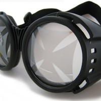 Large Round Lens Moto Goggles Motorcycle MX Vespa Jeep Motorbike Scooter Punk Harley Iron Cross Cyber Punk Steampunk