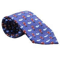 Ho Ho Hole in One Neck Tie in Navy by Bird Dog Bay