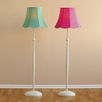 Classic Iron Floor Lamp + Scallop Shade