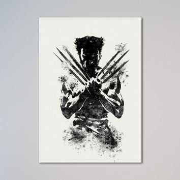 The Wolverine Poster X-men Watercolor Print
