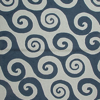 Coastal Living Collection Wave Hello Rug in Dark Blue design by Jaipur