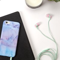 Colorblocked Ear Buds