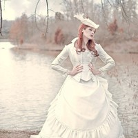 Victorian Reproduction Steampunk Corset Wedding by RomanticThreads