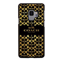 COACH NEW YORK GOLDEN Samsung Galaxy S3 S4 S5 S6 S7 S8 S9 Edge Plus Note 3 4 5 8 Case