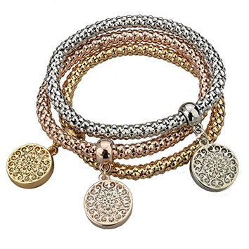 Long Way Gold Silver Plated Chain Bracelet