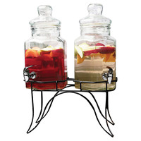Doppio Double Dispenser w/Stand, Beverage Dispensers