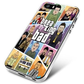 breaking bad collage GTA cover iPhone 5 | 5S | 5SE Case Planetscase.com