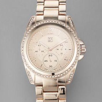 Rhinestone Embellished Watch - New York  & Company
