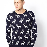 Selected Sweater With Reindeer