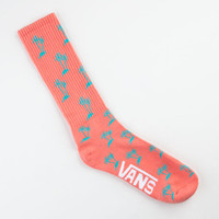 Vans Palm Mens Crew Socks Coral One Size For Men 22927931301