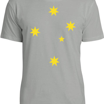 Southern Cross (Yellow) Mens Fine Jersey T-Shirt
