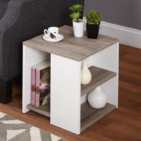 End Table Side Coffee Room Furniture New Living Room Bedside Chic Wood White