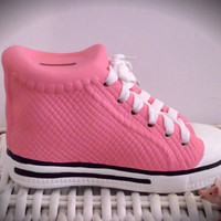 Personalized Pink Ceramic Sneaker Bank