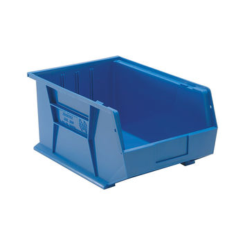 Quantum Storage Systems Ultra Stack And Hang Bin 16Lx 11Wx 8H Blue Pack Of 4