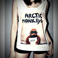 Arctic Monkeys Shirt Indie Rock Crop Top Tank Tops T-Shirt Women Sexy SideBoob Size S, M, L