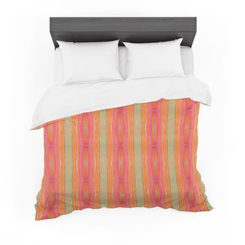 "Nika Martinez ""Summer Tie Dye"" Coral Red Featherweight Duvet Cover"