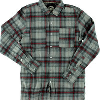 Santa Cruz Cliff Button Up Longsleeve Large Black/Red/Grey Plaid