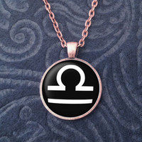NEW Bronze Libra Pendant Necklace Zodiac Sign by AustinCreations