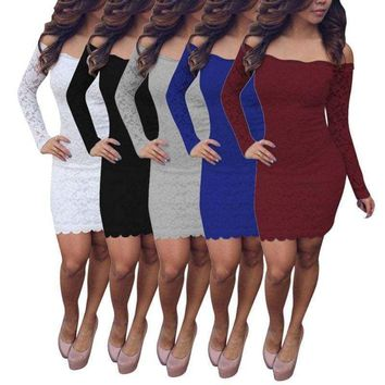 Elegant Women Lady Lace Mini Dress Evening Cocktail Clubwear Slim Party Dresses