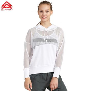 Women Long Sleeve Hoodies Hollow Out Solid Color Black Sports Jerseys Soft Running Shirts White Yoga Top Workout Clothes,1fp8040
