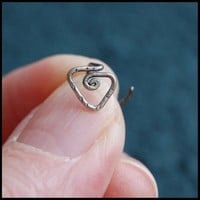Sterling Tribal Nose Stud - L or Screw End | RockYourNose - Jewelry on ArtFire