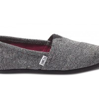 Black Metallic Herringbone Women's Classics