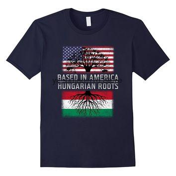 BASED IN AMERICA. Hungarian Roots T-shirt