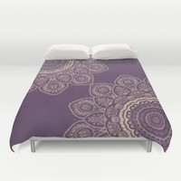 Lavender Tulips Duvet Cover by Lena Photo Art