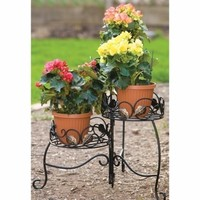 SheilaShrubs.com: Scroll and Ivy 3-Tiered Folding Plant Stand 89173 by Panacea: Plant Stands