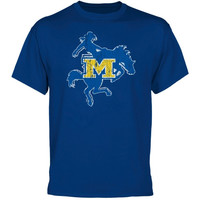 McNeese State Cowboys Distressed Primary T-Shirt - Royal Blue