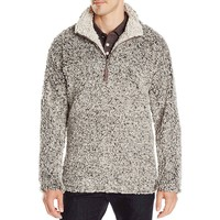 True Grit  Frosty Tipped Pile 1/4 Zip Fleece Jacket