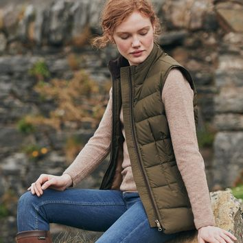Spiddal Women's Down Vest by Dubarry