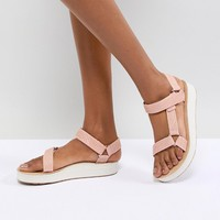 Teva Peach Midform Universal Geometric Flat Sandals at asos.com